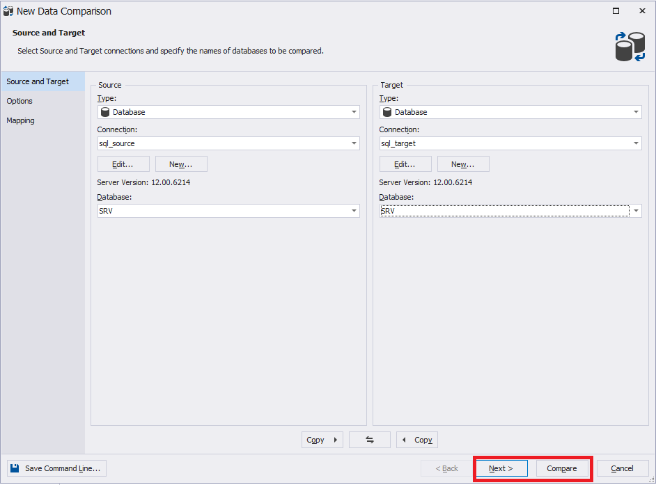 Сравнение компараторов для синхронизации схем и данных баз данных MS SQL Server - 25