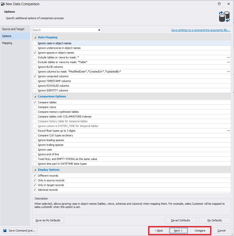 Сравнение компараторов для синхронизации схем и данных баз данных MS SQL Server - 26