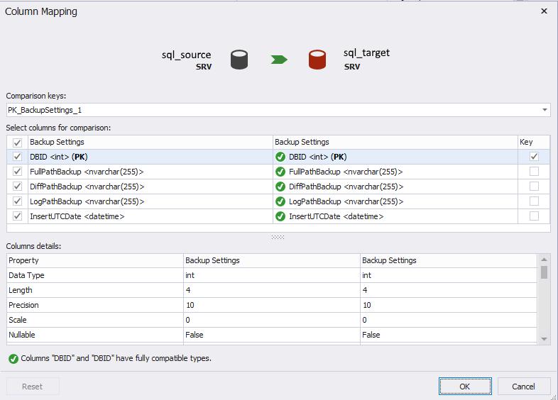 Сравнение компараторов для синхронизации схем и данных баз данных MS SQL Server - 28