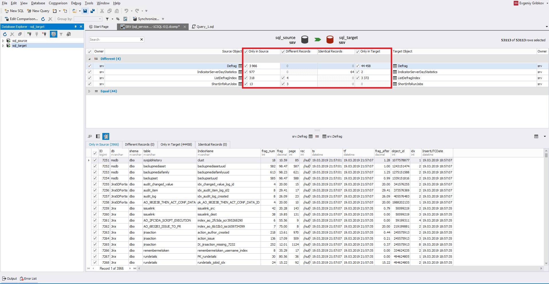 Сравнение компараторов для синхронизации схем и данных баз данных MS SQL Server - 32
