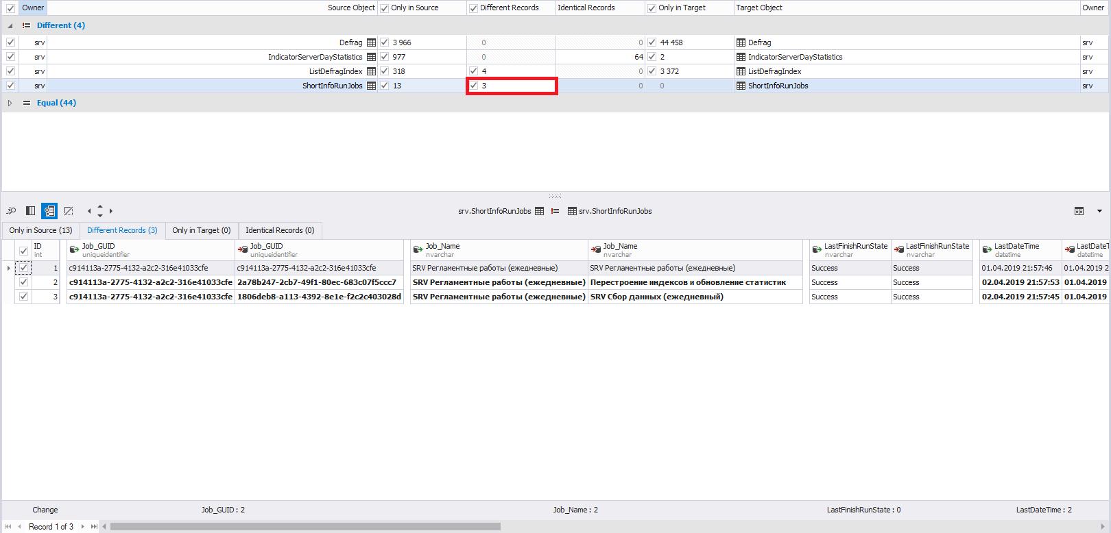 Сравнение компараторов для синхронизации схем и данных баз данных MS SQL Server - 34