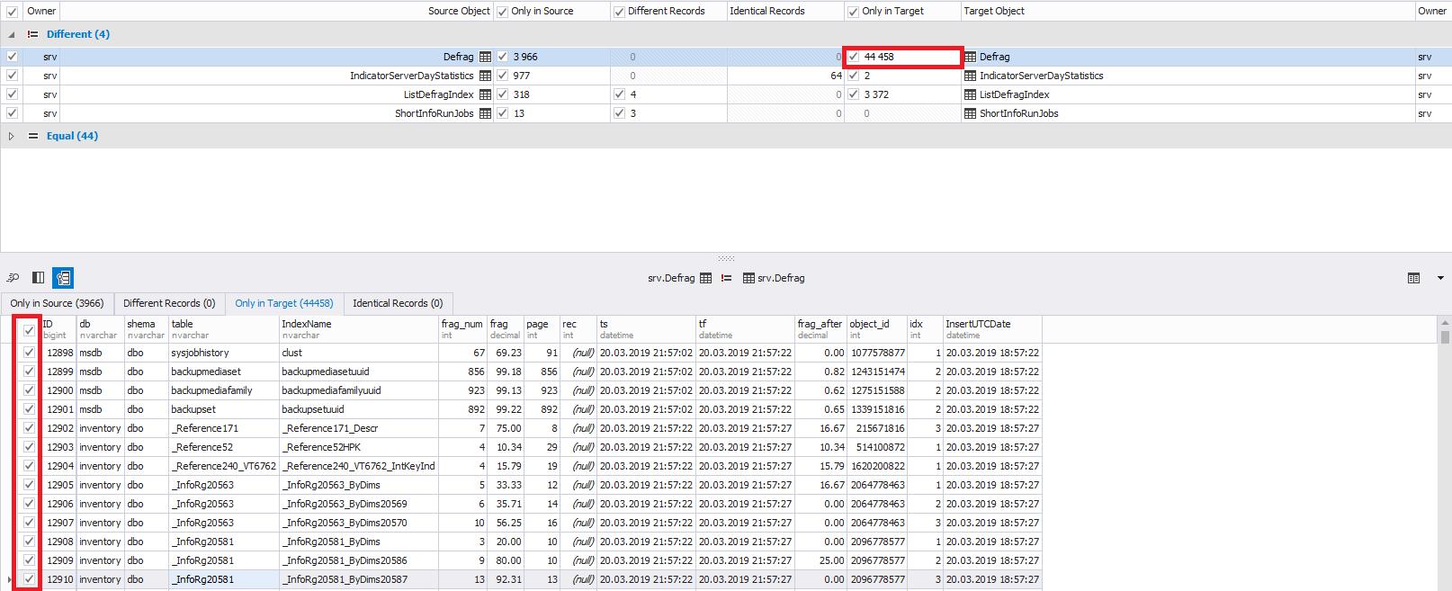 Сравнение компараторов для синхронизации схем и данных баз данных MS SQL Server - 36