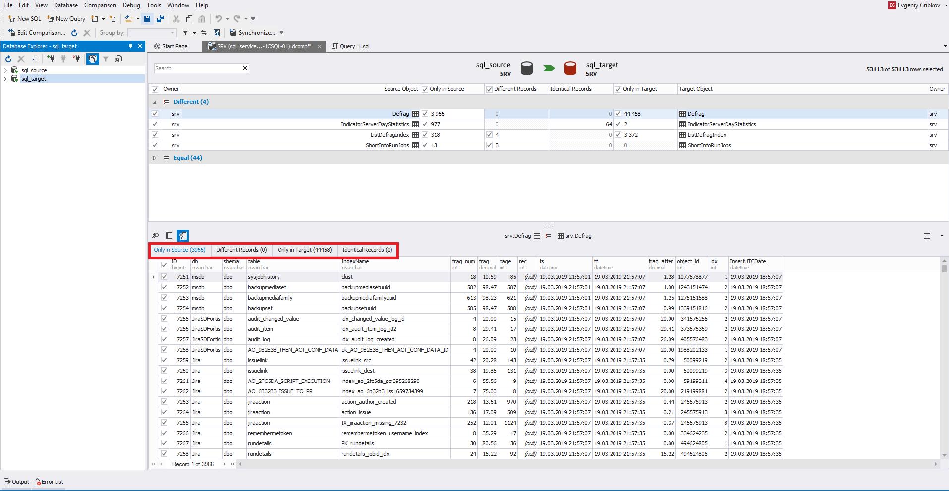 Сравнение компараторов для синхронизации схем и данных баз данных MS SQL Server - 37