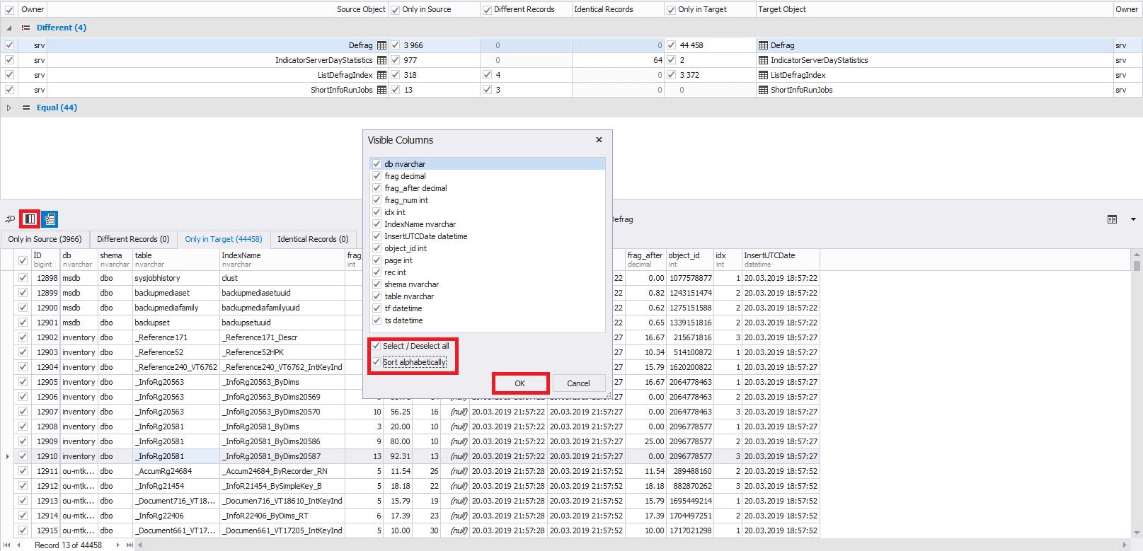Сравнение компараторов для синхронизации схем и данных баз данных MS SQL Server - 38
