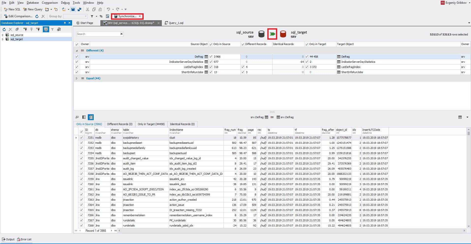 Сравнение компараторов для синхронизации схем и данных баз данных MS SQL Server - 39