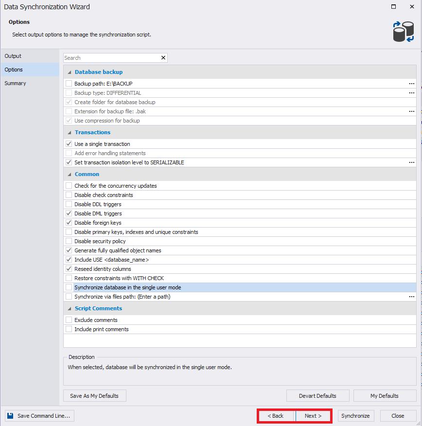 Сравнение компараторов для синхронизации схем и данных баз данных MS SQL Server - 41
