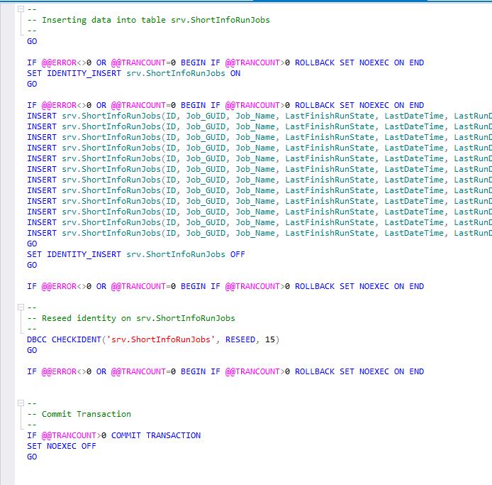 Сравнение компараторов для синхронизации схем и данных баз данных MS SQL Server - 44