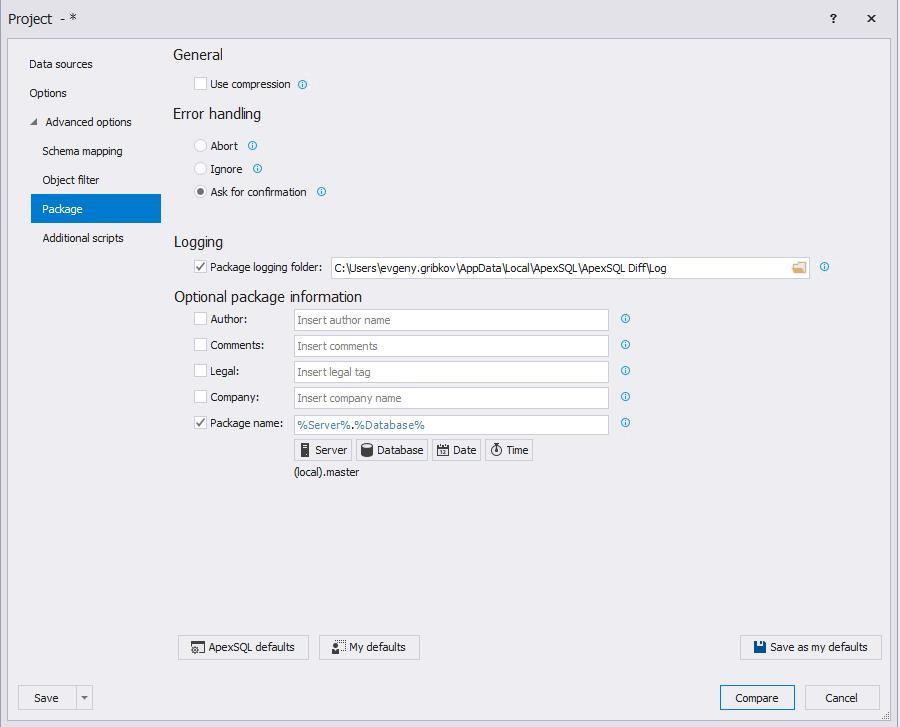 Сравнение компараторов для синхронизации схем и данных баз данных MS SQL Server - 53