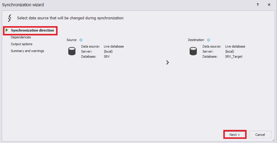 Сравнение компараторов для синхронизации схем и данных баз данных MS SQL Server - 56