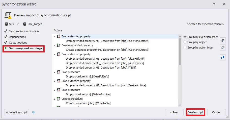 Сравнение компараторов для синхронизации схем и данных баз данных MS SQL Server - 59