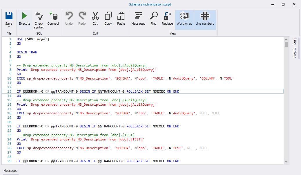 Сравнение компараторов для синхронизации схем и данных баз данных MS SQL Server - 60