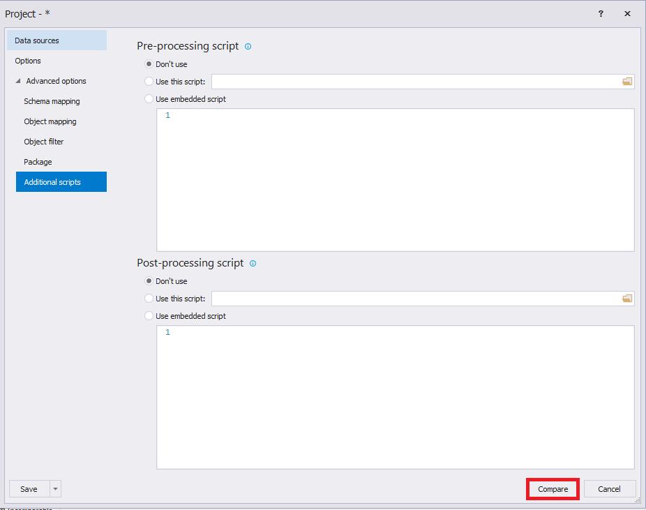 Сравнение компараторов для синхронизации схем и данных баз данных MS SQL Server - 71