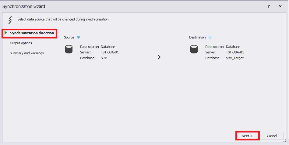 Сравнение компараторов для синхронизации схем и данных баз данных MS SQL Server - 73