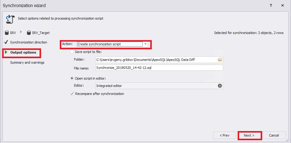 Сравнение компараторов для синхронизации схем и данных баз данных MS SQL Server - 74
