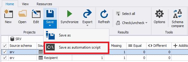 Сравнение компараторов для синхронизации схем и данных баз данных MS SQL Server - 79
