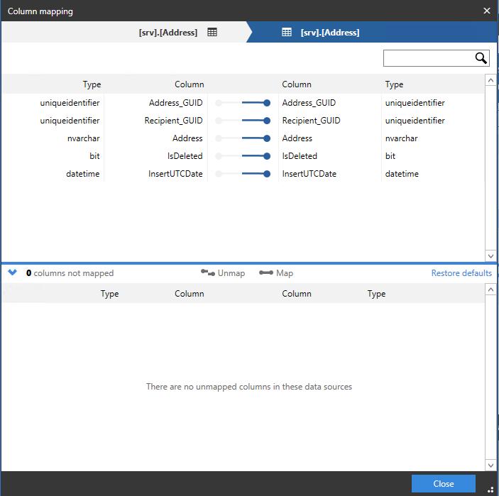 Сравнение компараторов для синхронизации схем и данных баз данных MS SQL Server - 84