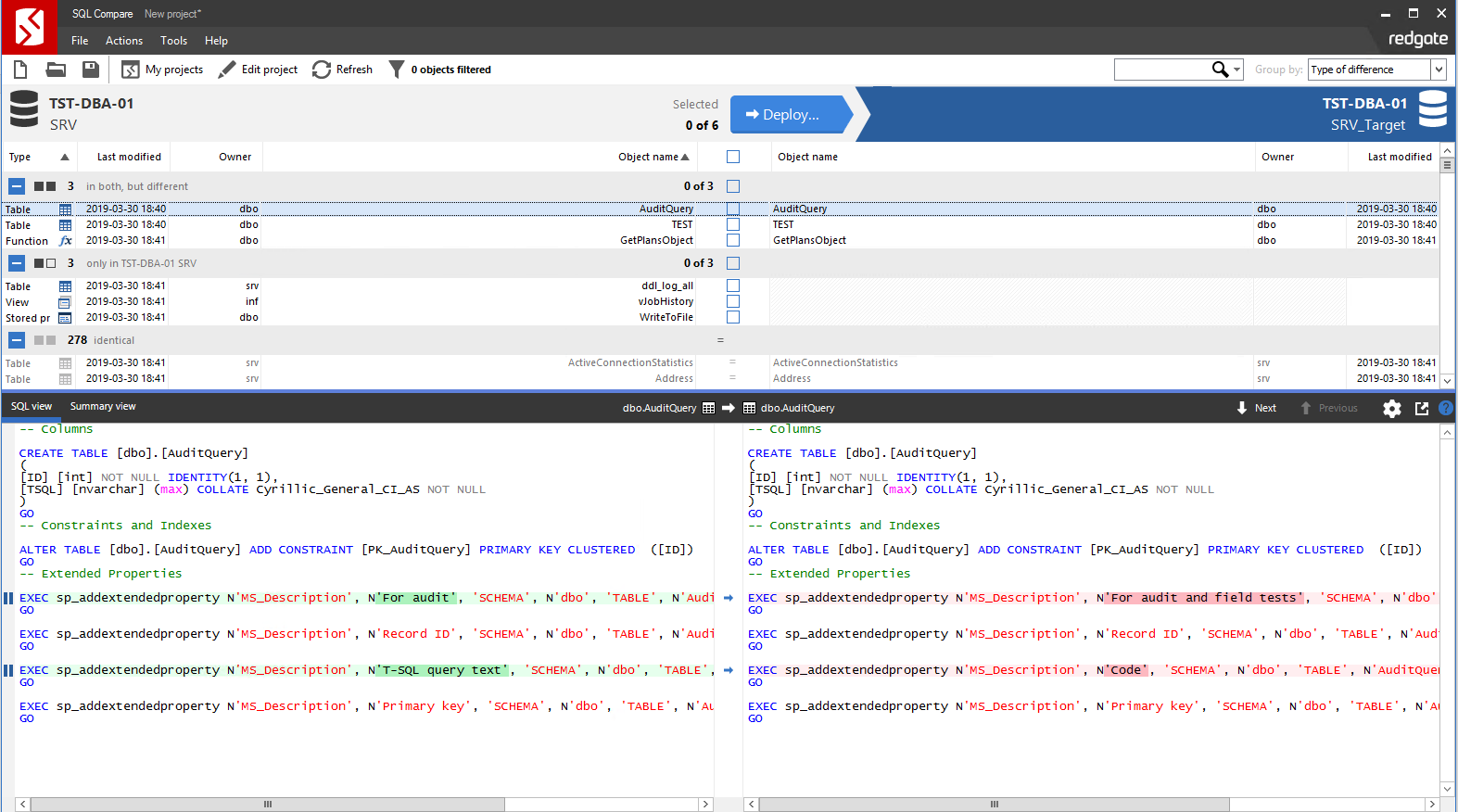 Сравнение компараторов для синхронизации схем и данных баз данных MS SQL Server - 88