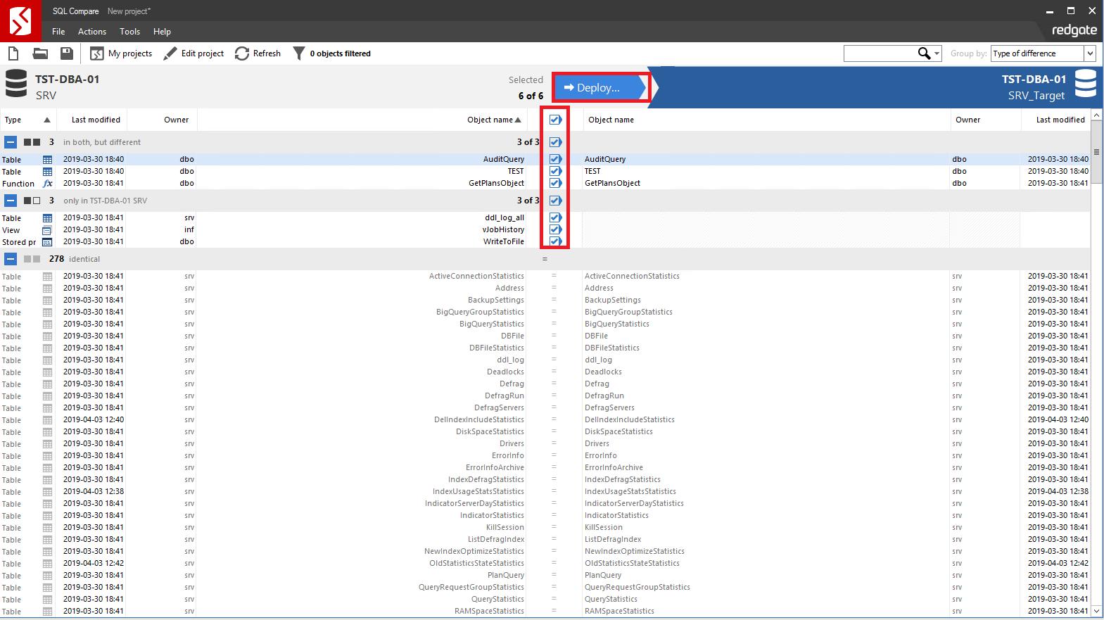Сравнение компараторов для синхронизации схем и данных баз данных MS SQL Server - 89