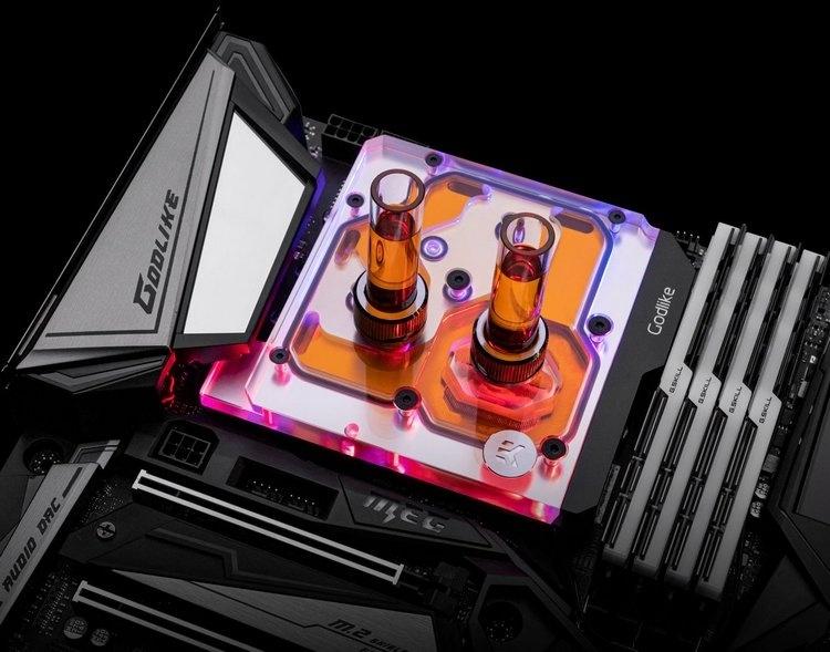 EK-Momentum MEG Z390 Godlike D-RGB: водоблок для флагманской платы MSI на Intel Z390