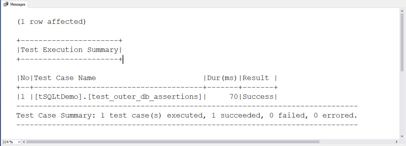 Testing SQL Server code with tSQLt - 18