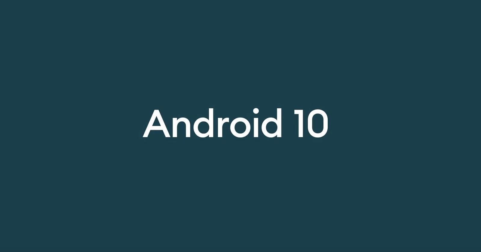Google официально выпустила Android 10