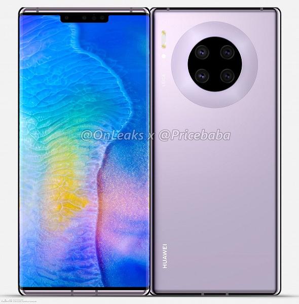 С четырехмодульной камерой и только одной механической кнопкой: огромные рендеры и видео раскрывают дизайн Huawei Mate 30 Pro