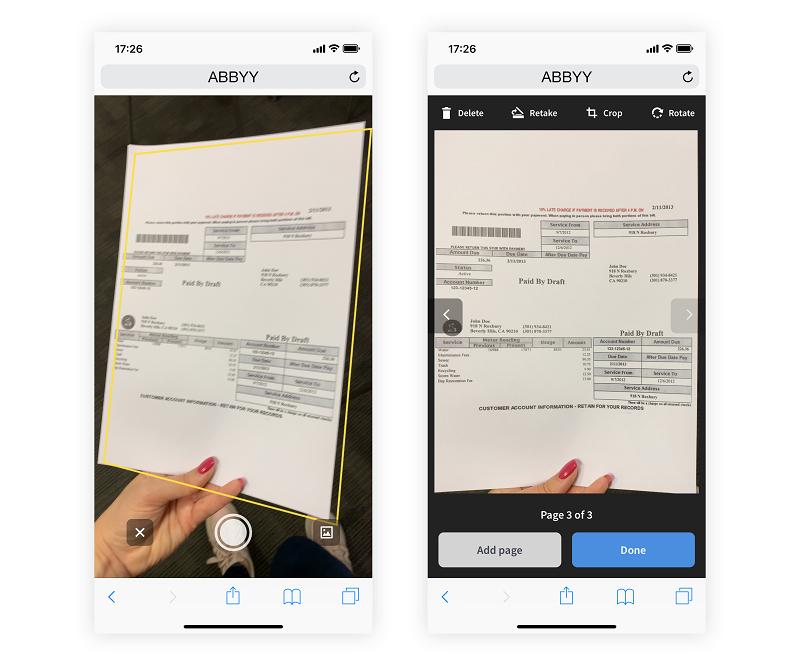 ABBYY Mobile Web Capture: Качественные фотографии документов прямо в браузере смартфона - 2