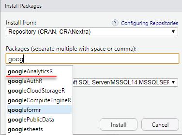 Как в Microsoft SQL Server получать данные из Google Analytics при помощи R - 12
