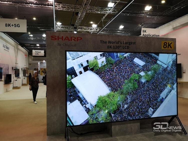 IFA 2019: гигантские телевизоры Sharp и METZ формата 8K