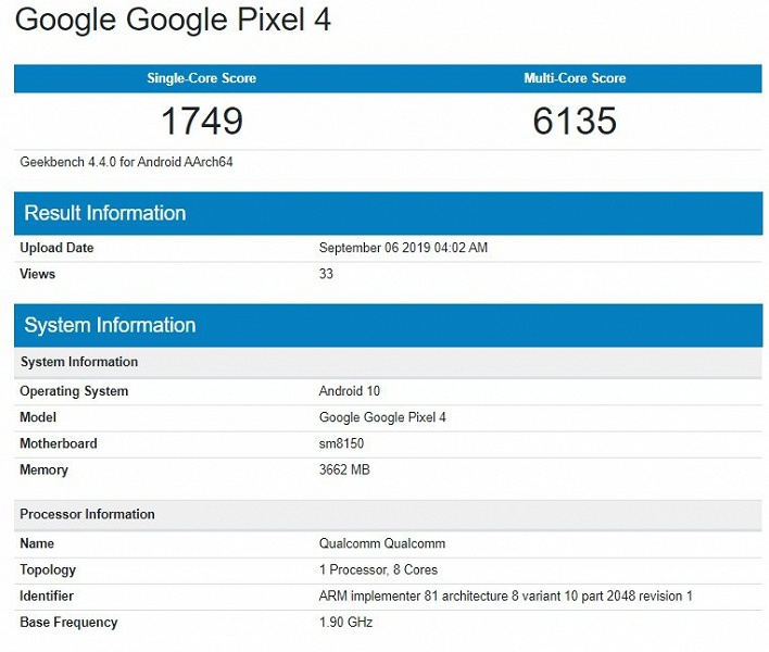 Есть риск, что смартфоны Google Pixel 4 и Pixel 4 XL снова получат лишь по 4 ГБ оперативной памяти