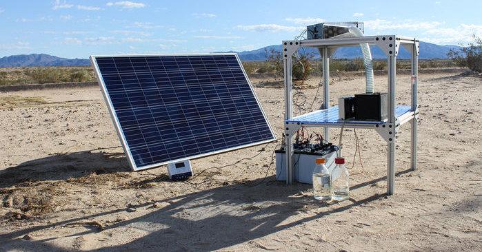 Как добыть воду даже из воздуха пустыни: быстро и дешево