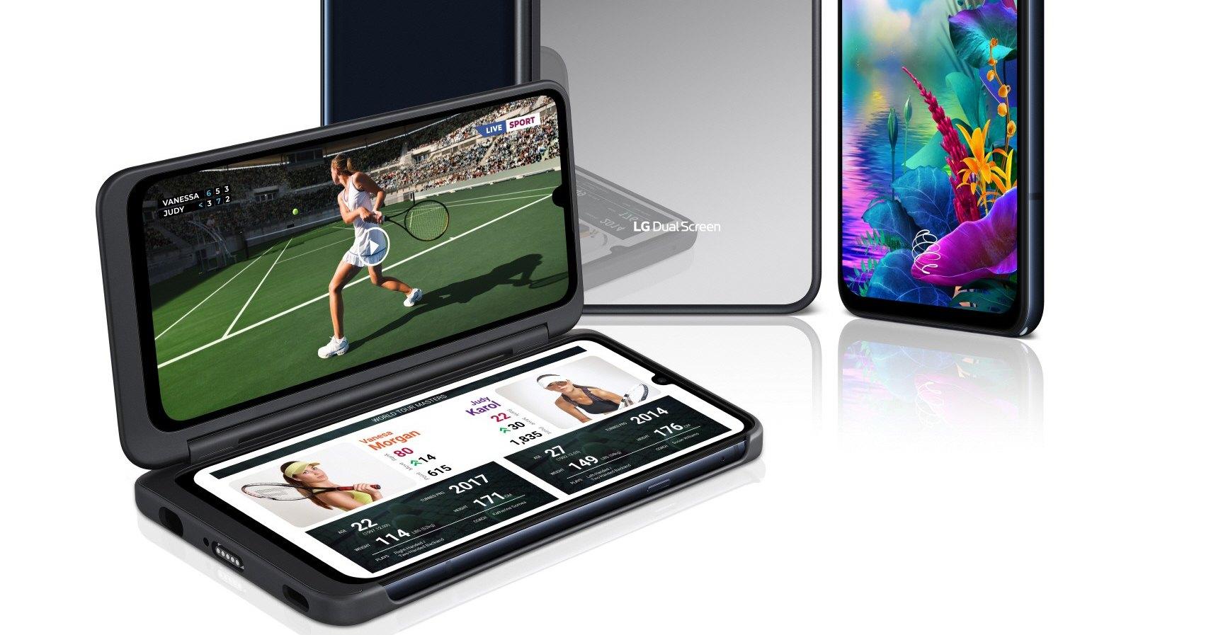 LG представила смартфон с чехлом, добавляющим ему два экрана