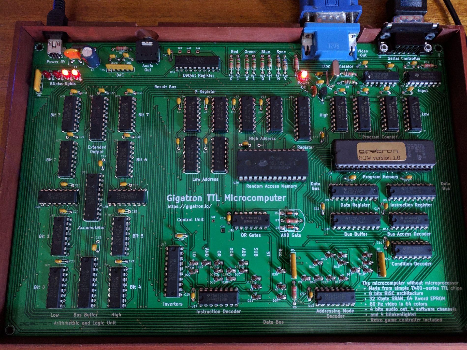Гигатрон — самодельный микрокомпьютер без процессора - 1