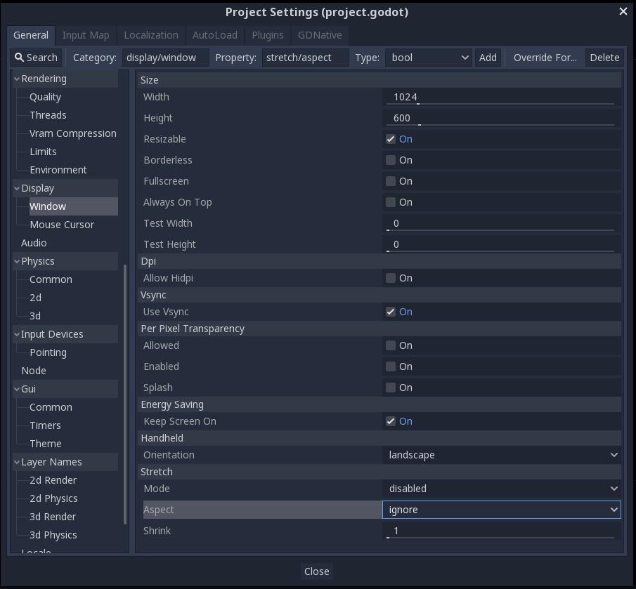 Учебные проекты на Godot — Pong (часть 1) Создание и настройка сцены игрового процесса - 16