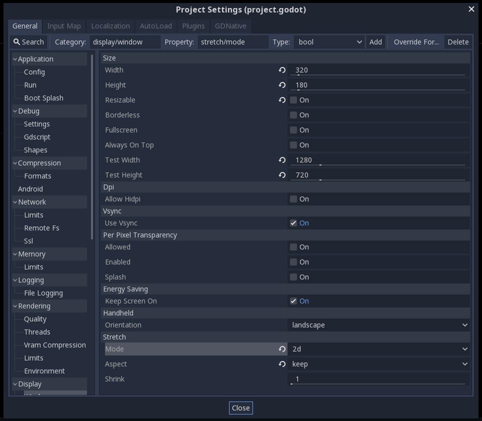 Учебные проекты на Godot — Pong (часть 1) Создание и настройка сцены игрового процесса - 17