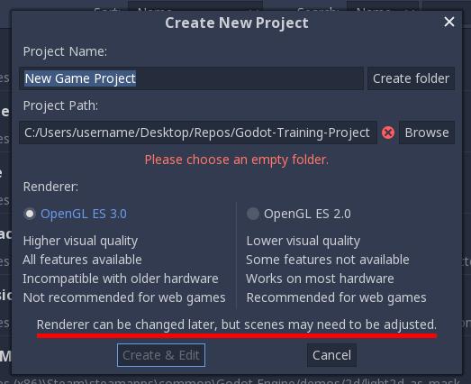 Учебные проекты на Godot — Pong (часть 1) Создание и настройка сцены игрового процесса - 8