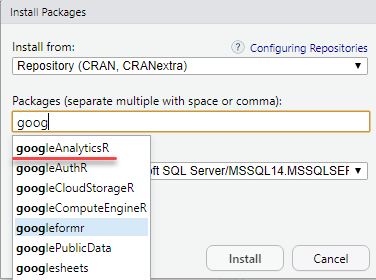 How to receive data from Google Analytics using R in Microsoft SQL Server - 12