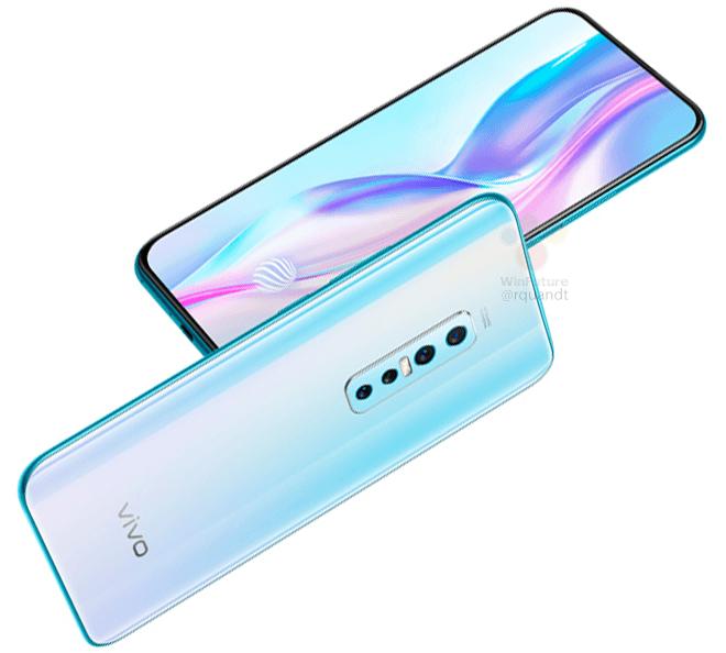 Сдвоенная вдвижная фронтальная камера и основная четырехмодульная: опубликованы изображения и характеристики смартфона Vivo V17 Pro