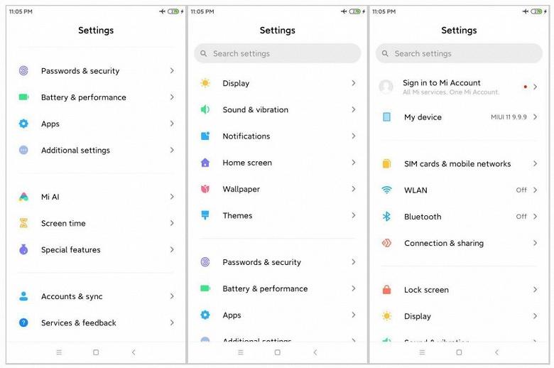 Новые подробности о MIUI 11: иконки как в исходной Android 10, обновленный Always on Display