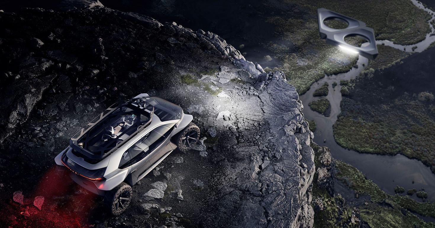Audi представила концепт внедорожника с дронами вместо фар - 1