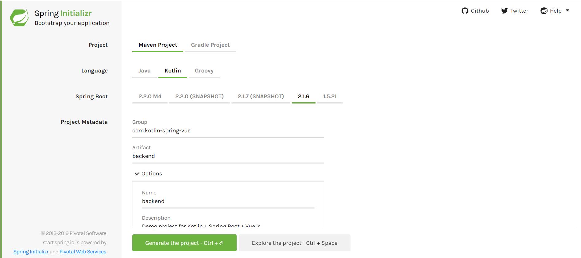 Веб-приложение на Kotlin + Spring Boot + Vue.js - 1