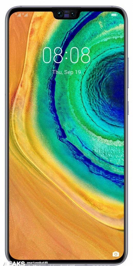 Huawei Mate 30 во всех деталях на официальном изображении