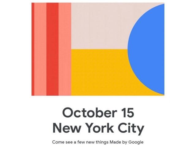 Официально подтверждено Google: презентация Pixel 4 состоится 15 октября