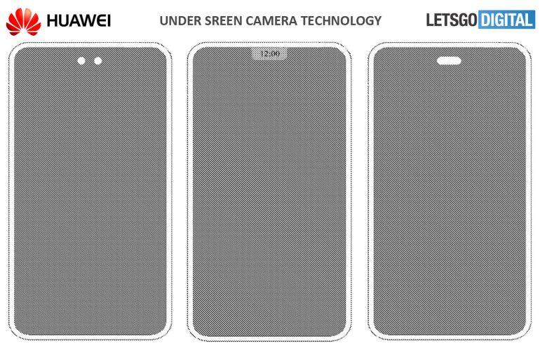 Скрытая камера не только у Xiaomi и Samsung. Huawei спрячет камеру, вспышку и датчики под экран смартфона