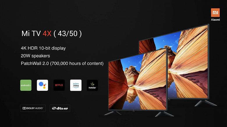 От 40 до 65 дюймов, PatchWall 2.0, поддержка Data Saver Android TV. Xiaomi представила четыре модели умных телевизоров
