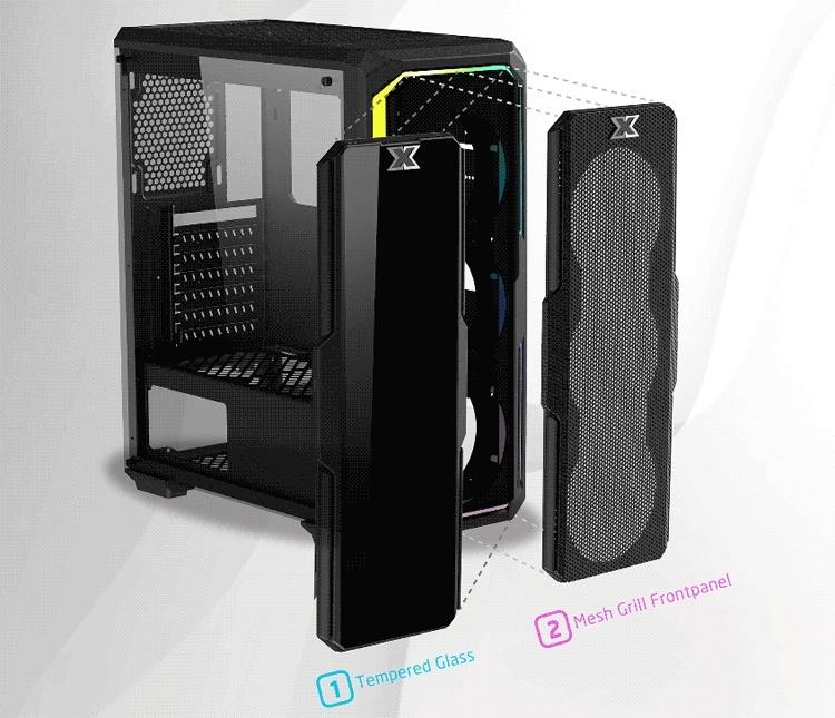 ПК-корпус Xigmatek Leco Plus: подсветка RGB и сменная фронтальная панель