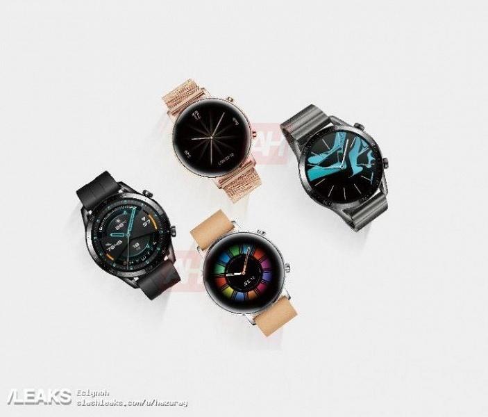 Все версии Huawei Watch GT 2 на одной картинке. Характеристики умных часов