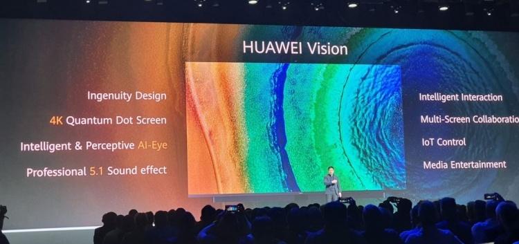 Huawei Vision — новый умный телевизор на базе собственной Harmony OS