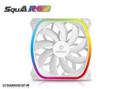 Вентилятор Enermax SquA RGB теперь доступен и в белом цвете