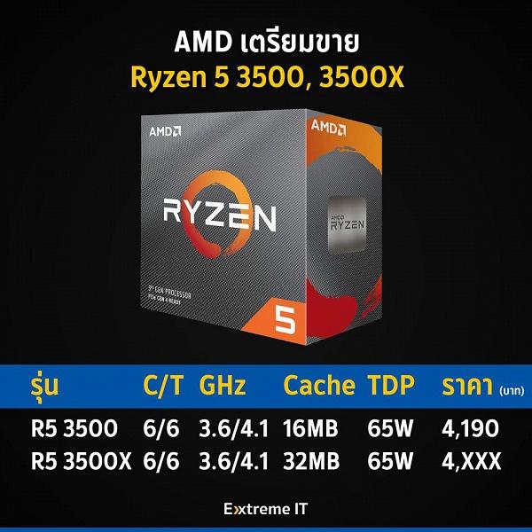 Шестиядерный процессор AMD Ryzen 5 3500 оценен в $138